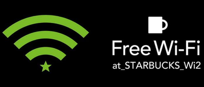 スターバックスの独自Wi-Fiのネットワーク名は「at_STARBUCKS_Wi2」の画像