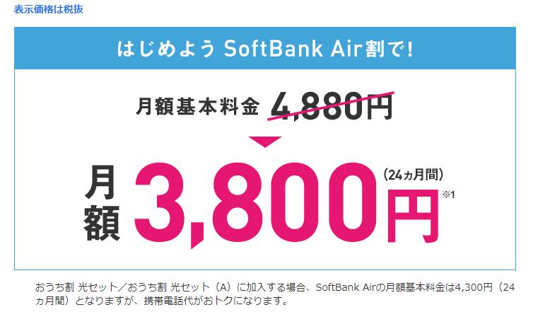 はじめようSoftBank Air割