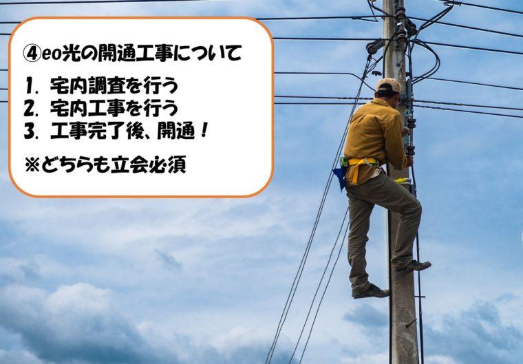 eo光の開通工事について